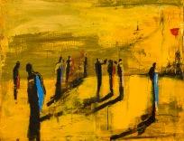 Apg 2:42 Tavla av Kent Wisti Från utställningen Som en rörelse - På spaning efter diakoni i vår tid.