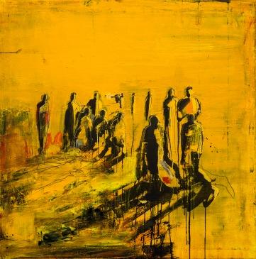 Apg 6:1-6 Tavla av Kent Wisti Från utställningen Som en rörelse - På spaning efter diakoni i vår tid.