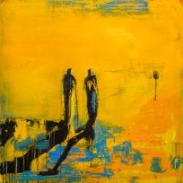 Joh 4:4-34 Tavla av Kent Wisti Från utställningen Som en rörelse - På spaning efter diakoni i vår tid.